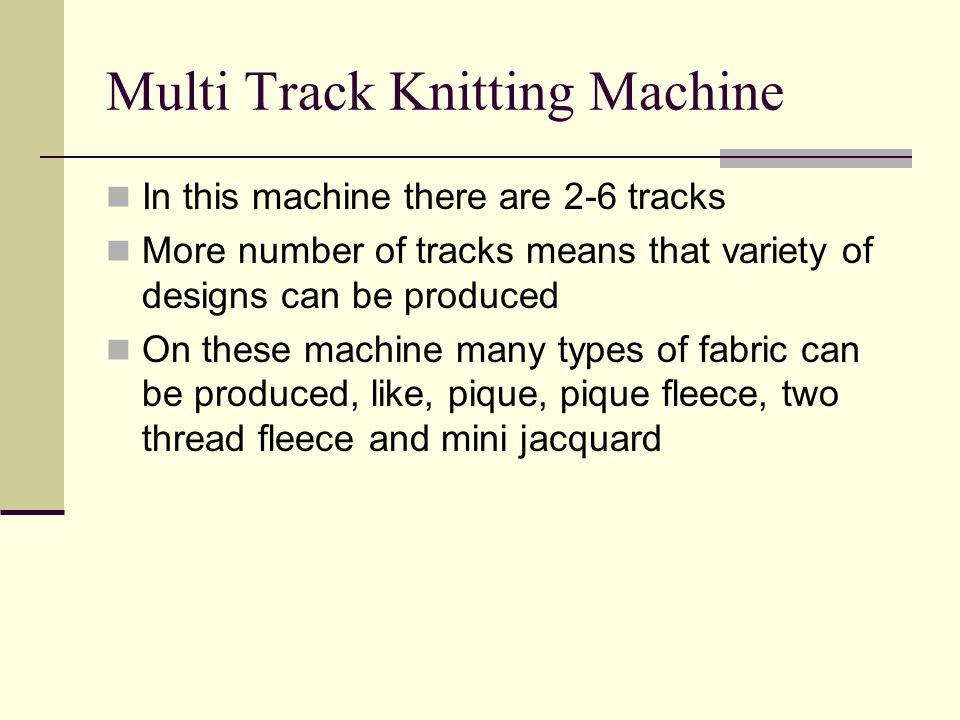 Multi Track Knitting Machine