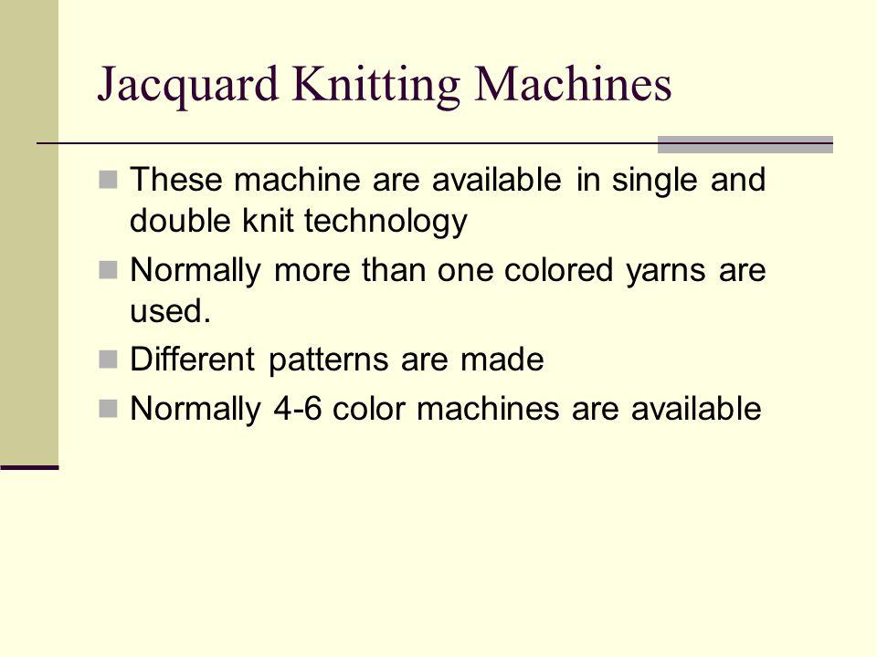 Jacquard Knitting Machines