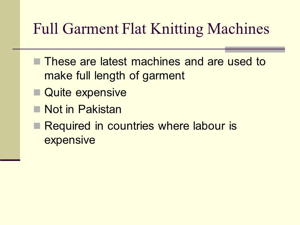 Full Garment Flat Knitting Machines