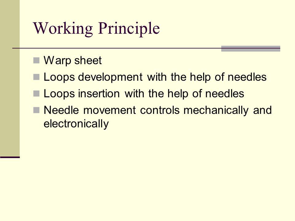 Working Principle Warp sheet