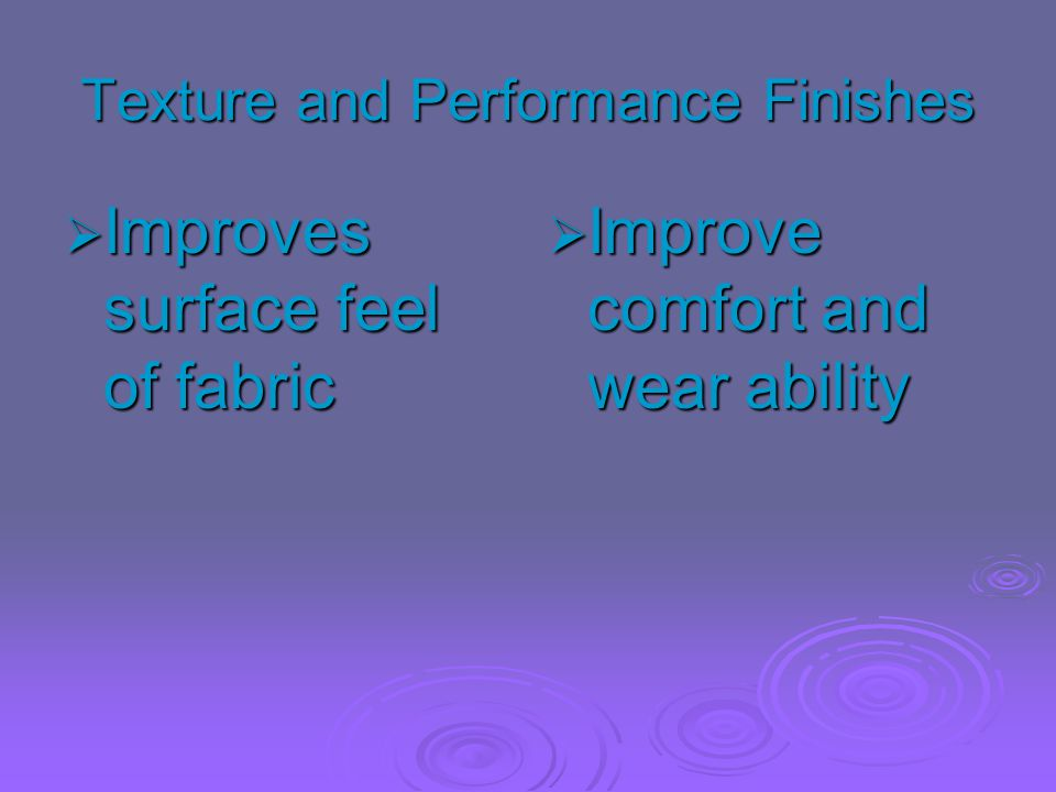 Texture and Performance Finishes