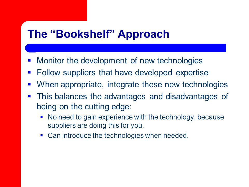 The Bookshelf Approach