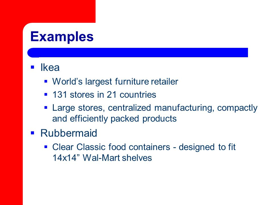 Examples Ikea Rubbermaid World's largest furniture retailer