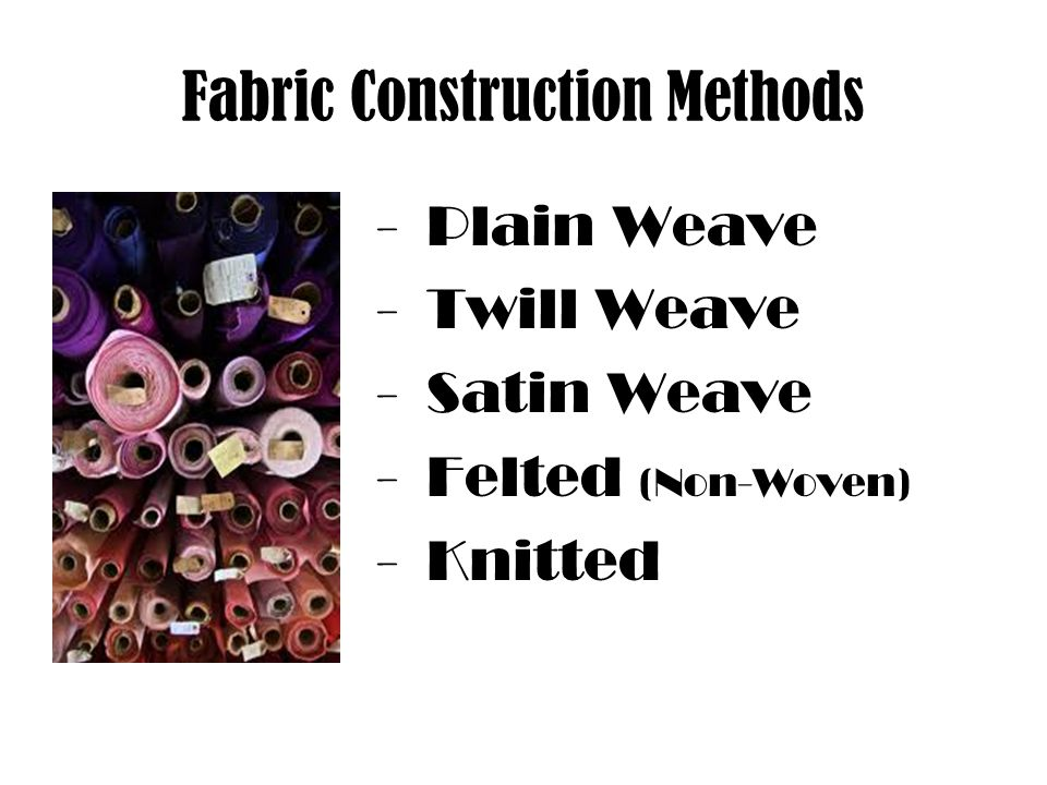 Fabric Construction Methods