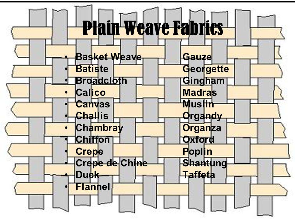 Plain Weave Fabrics Basket Weave Gauze Batiste Georgette