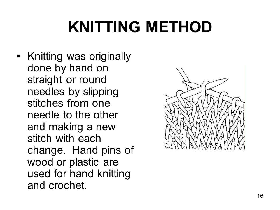 KNITTING METHOD