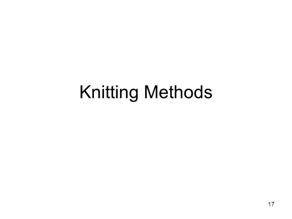 Knitting Methods