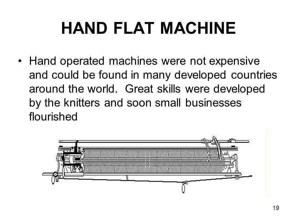 HAND FLAT MACHINE