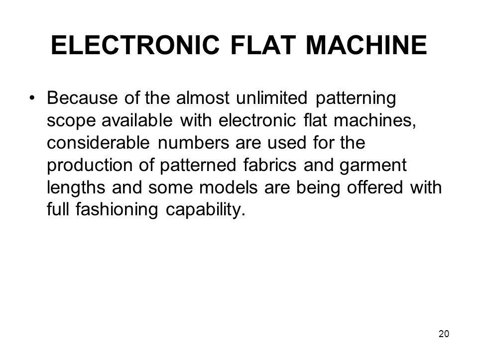 ELECTRONIC FLAT MACHINE