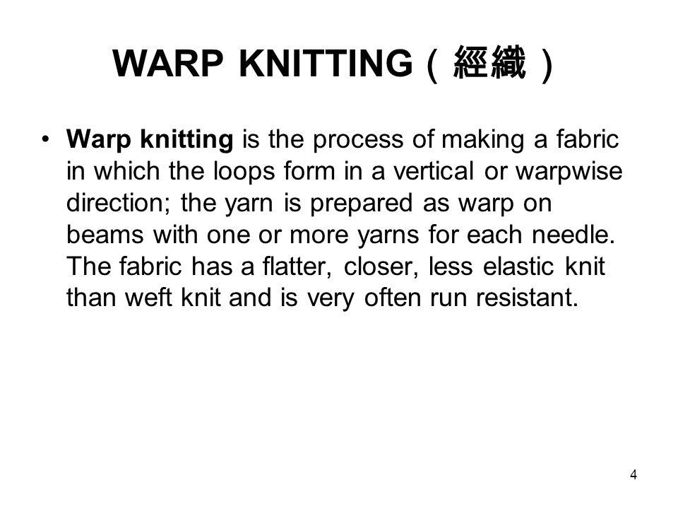 WARP KNITTING(經織)
