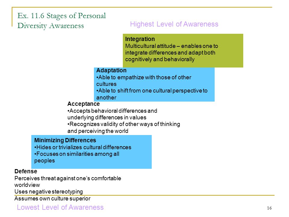 Ex Stages of Personal Diversity Awareness