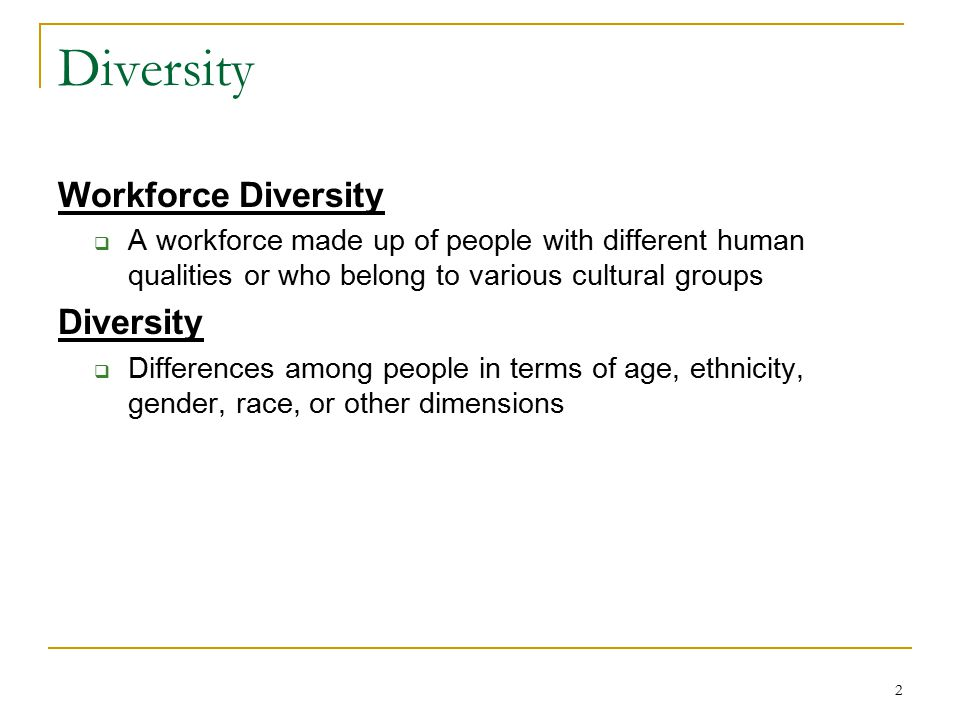 Diversity Workforce Diversity Diversity