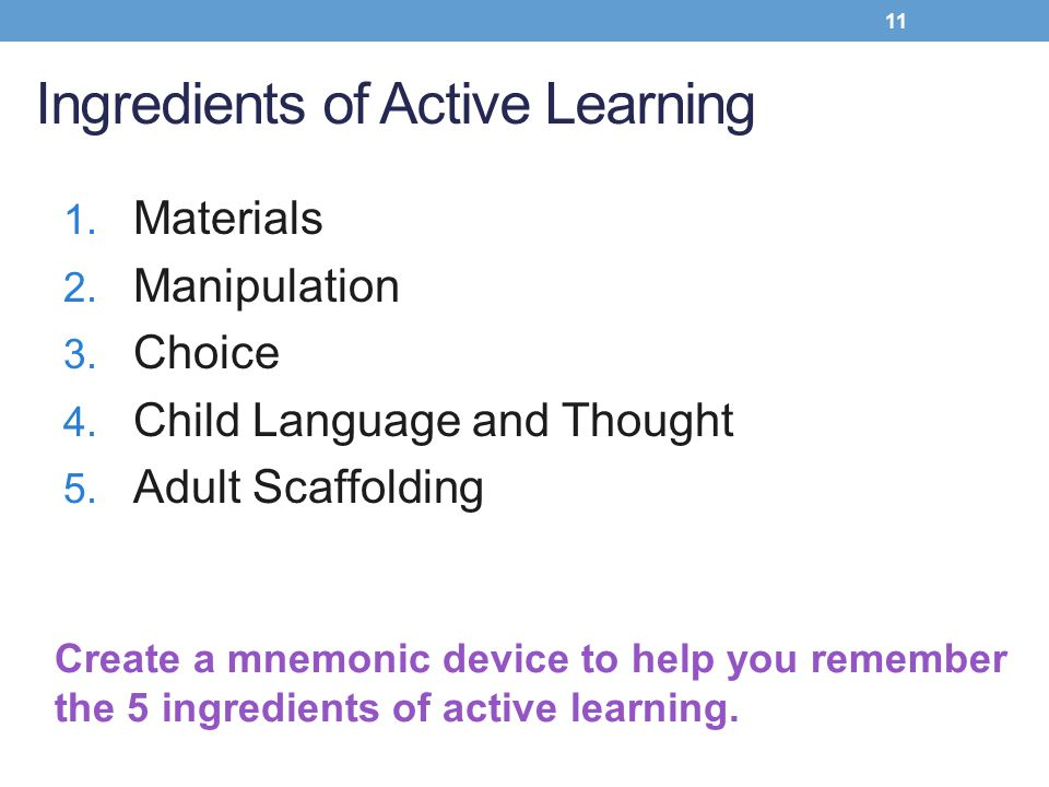 Ingredients of Active Learning