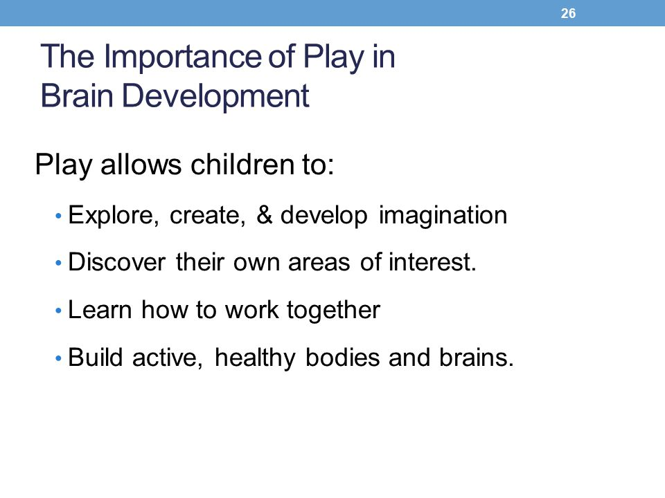 the importance of play in children s holistic development Environments for holistic child development great information about the importance of play in using play-based curriculum to support children's.