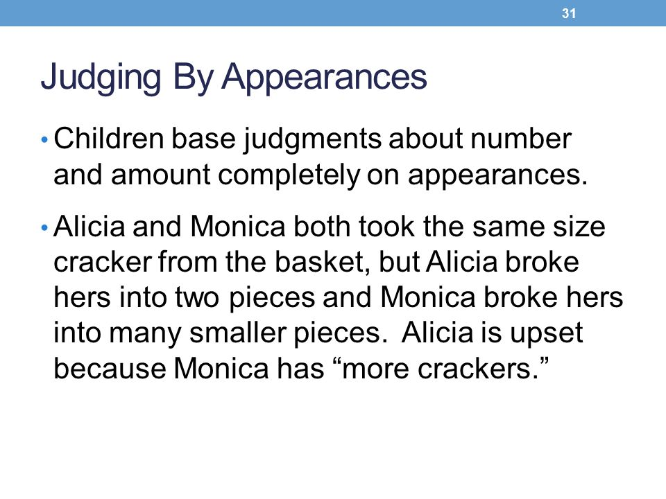 Judging By Appearances
