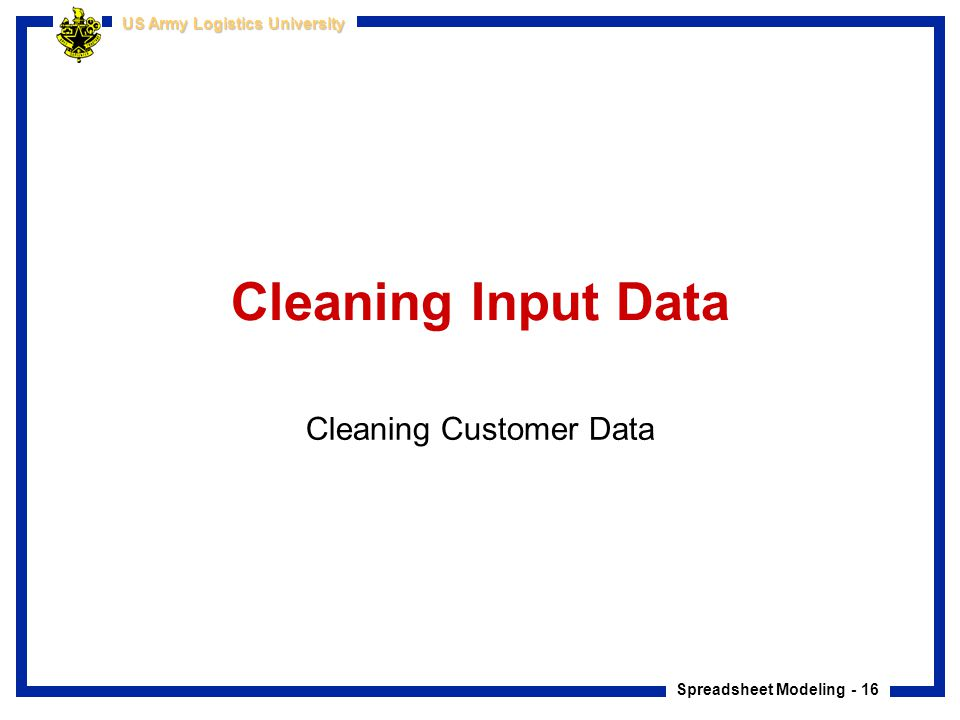 Cleaning Customer Data