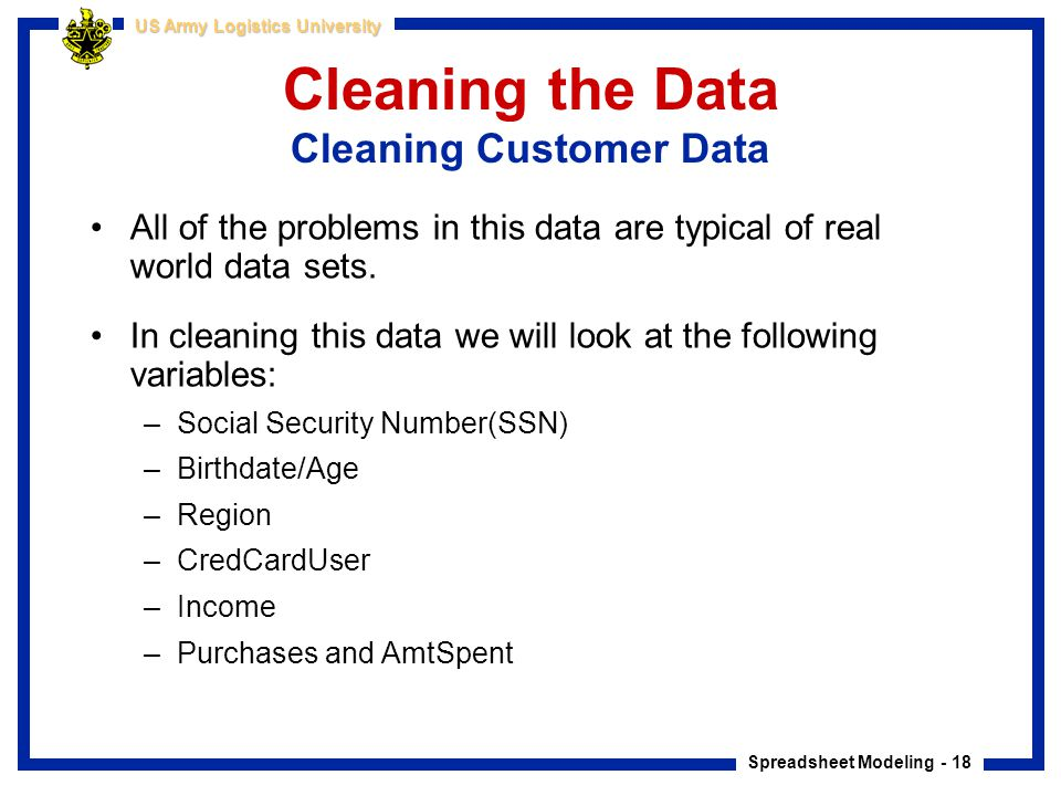 Cleaning the Data Cleaning Customer Data