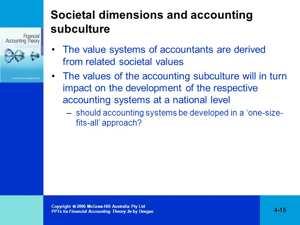 Societal dimensions and accounting subculture