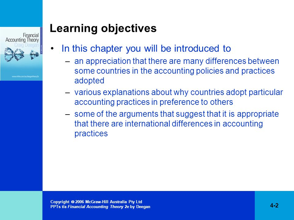 Learning objectives In this chapter you will be introduced to