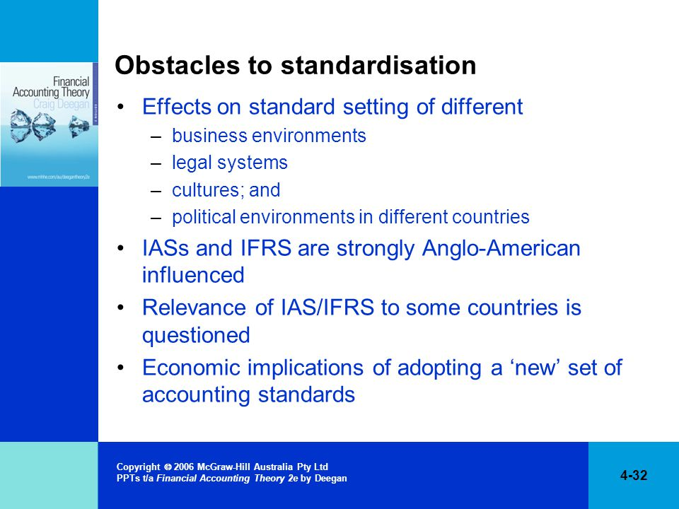 Obstacles to standardisation
