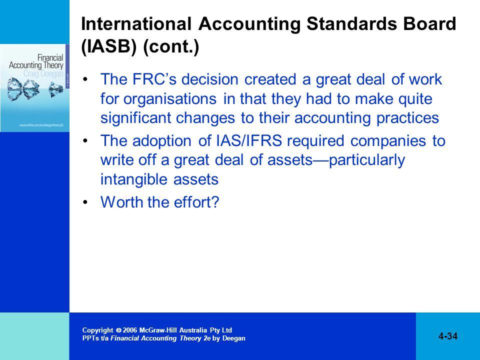 International Accounting Standards Board (IASB) (cont.)
