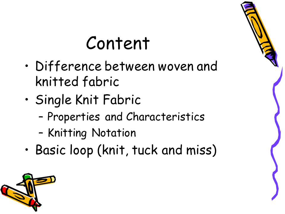 Content Difference between woven and knitted fabric Single Knit Fabric
