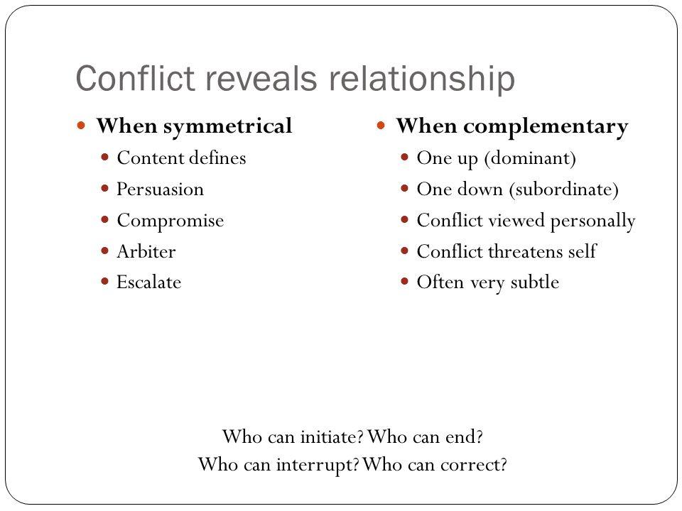 Conflict reveals relationship