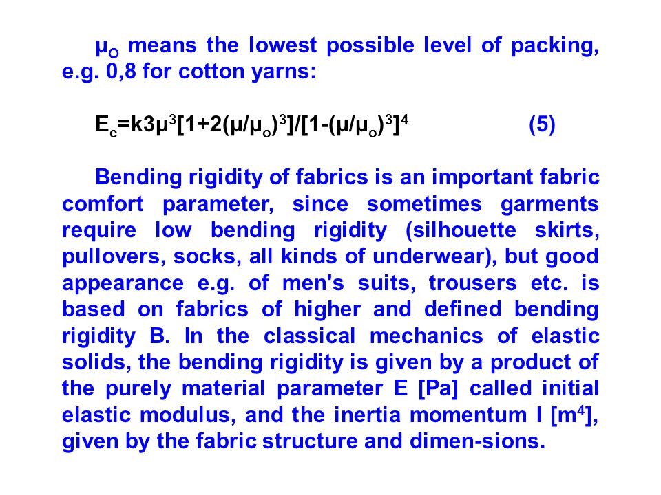 μO means the lowest possible level of packing, e. g