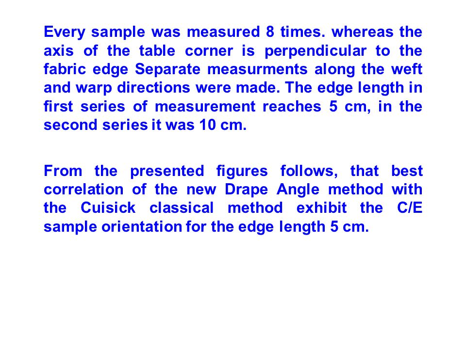 Every sample was measured 8 times