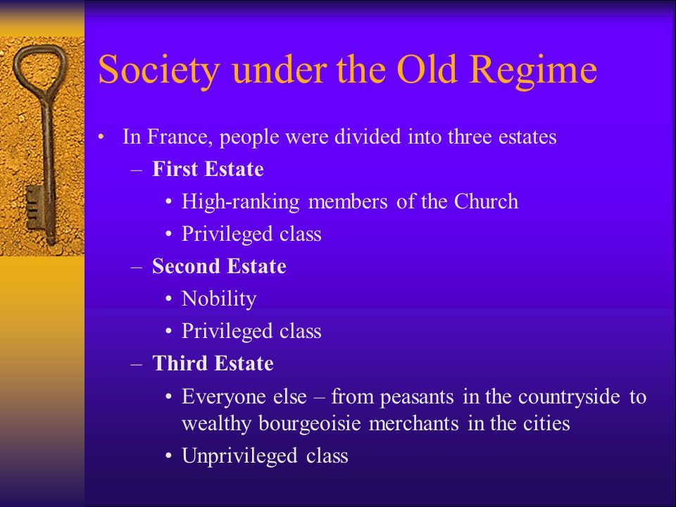 Society under the Old Regime