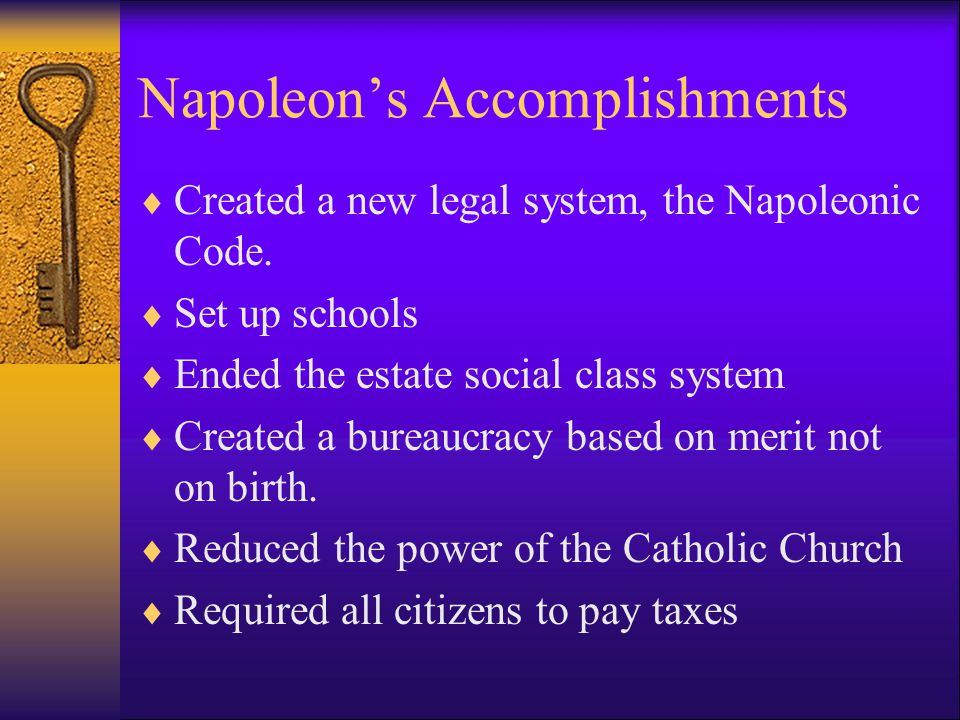 Napoleon's Accomplishments