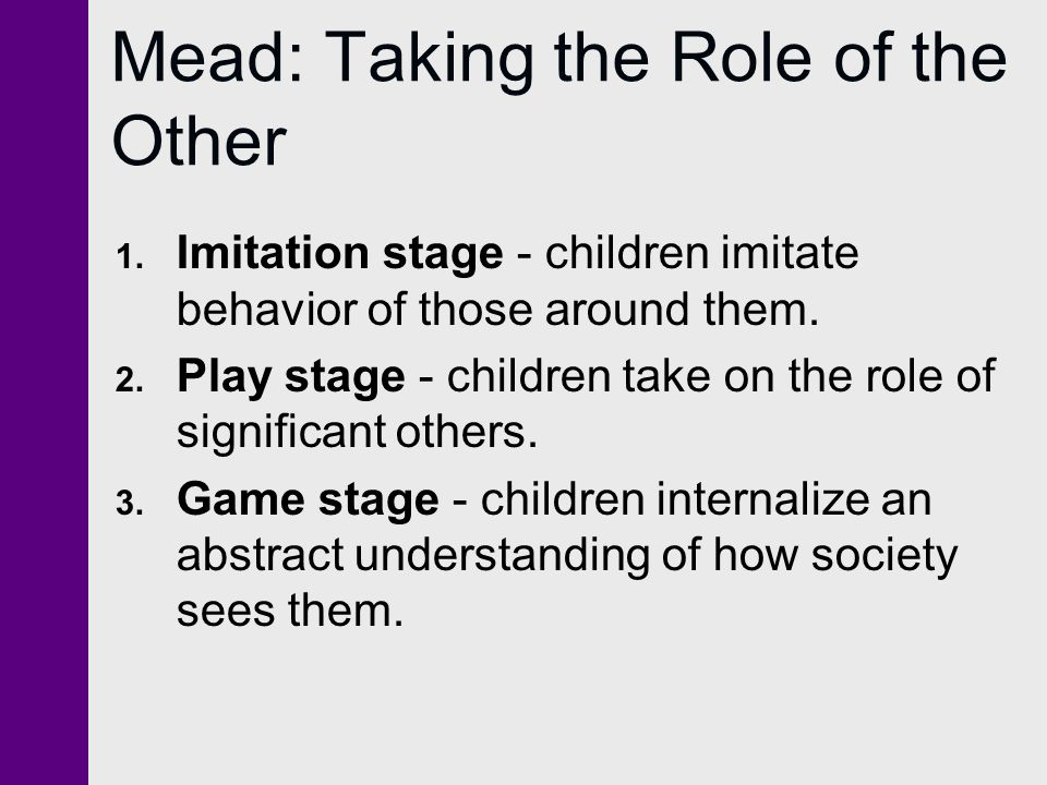 Mead: Taking the Role of the Other