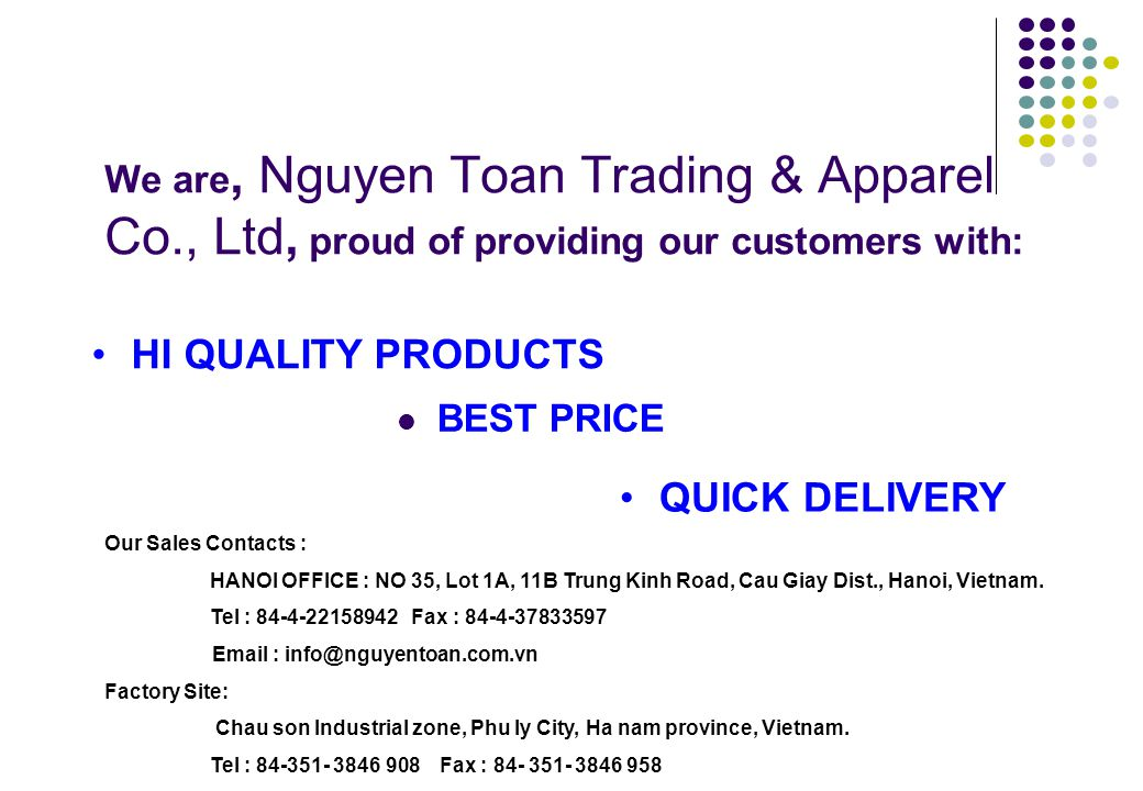 HI QUALITY PRODUCTS QUICK DELIVERY