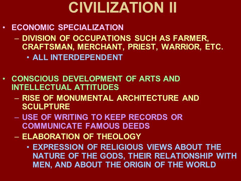 CIVILIZATION II ECONOMIC SPECIALIZATION