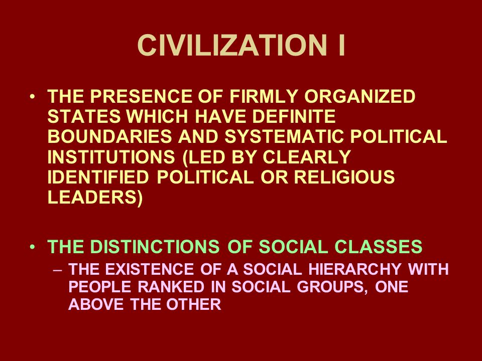 CIVILIZATION I