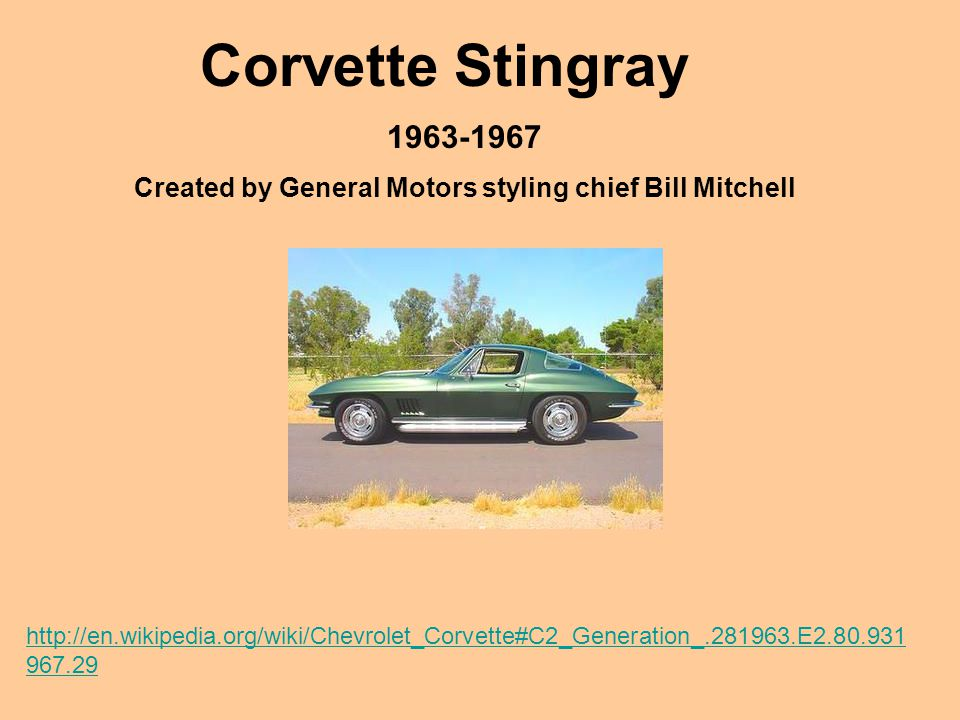 Created by General Motors styling chief Bill Mitchell
