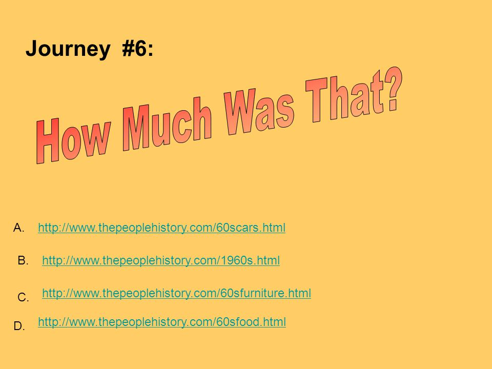 How Much Was That Journey #6: A.