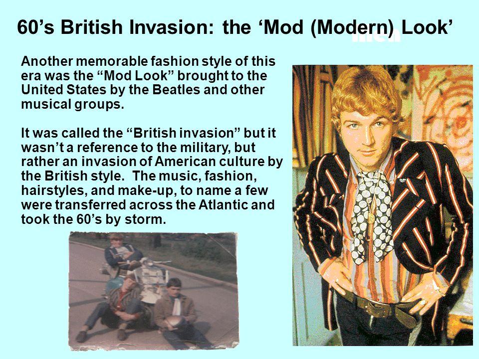 60's British Invasion: the 'Mod (Modern) Look'