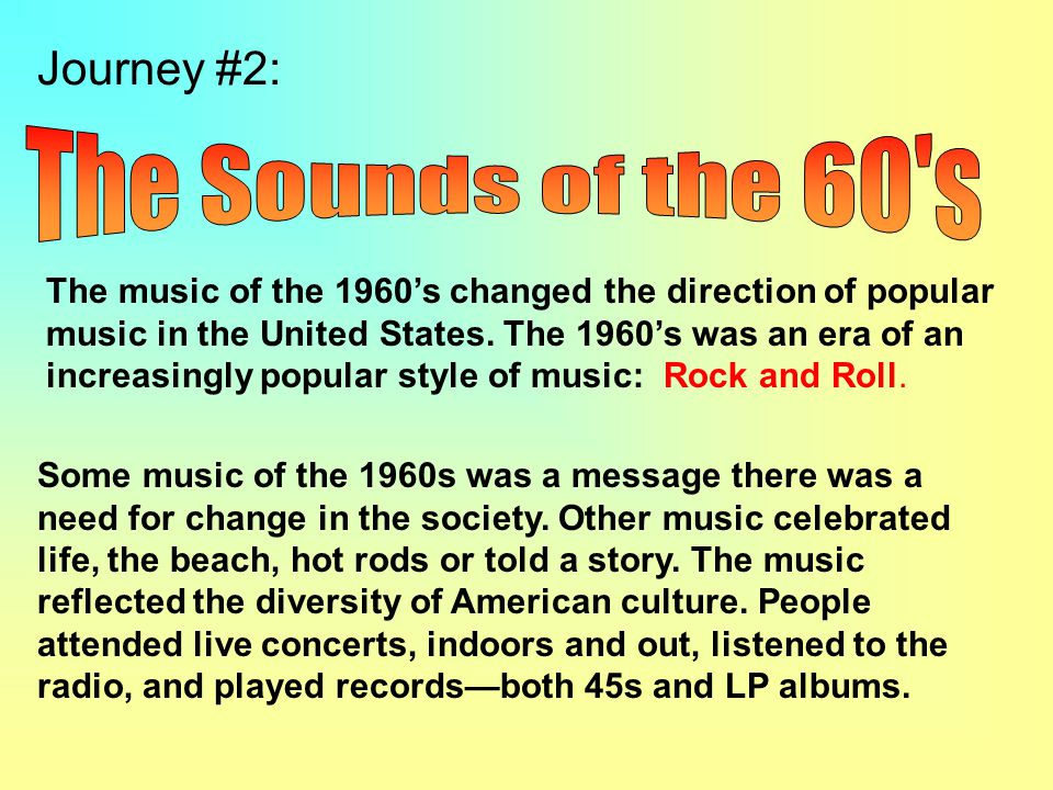 The Sounds of the 60 s Journey #2: