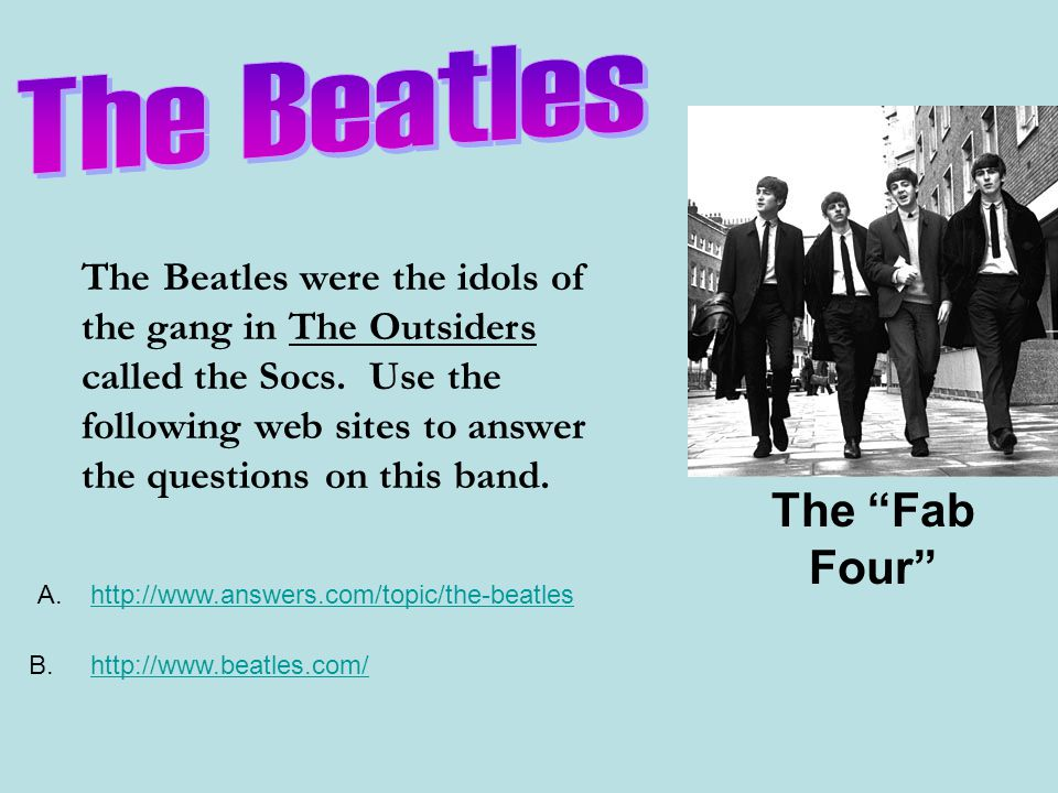 The Beatles The Fab Four
