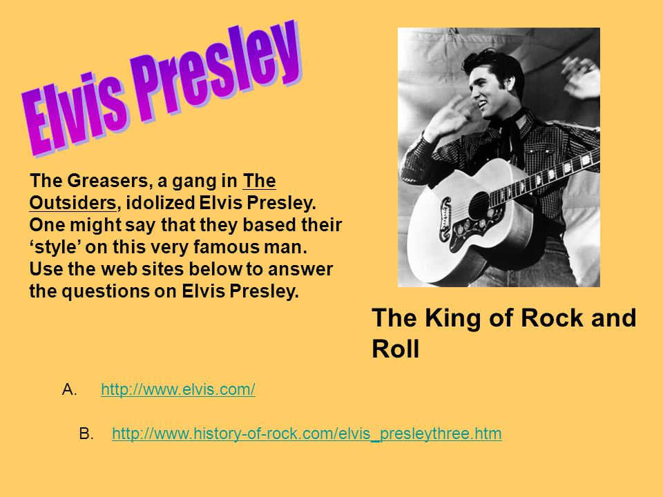 Elvis Presley The King of Rock and Roll