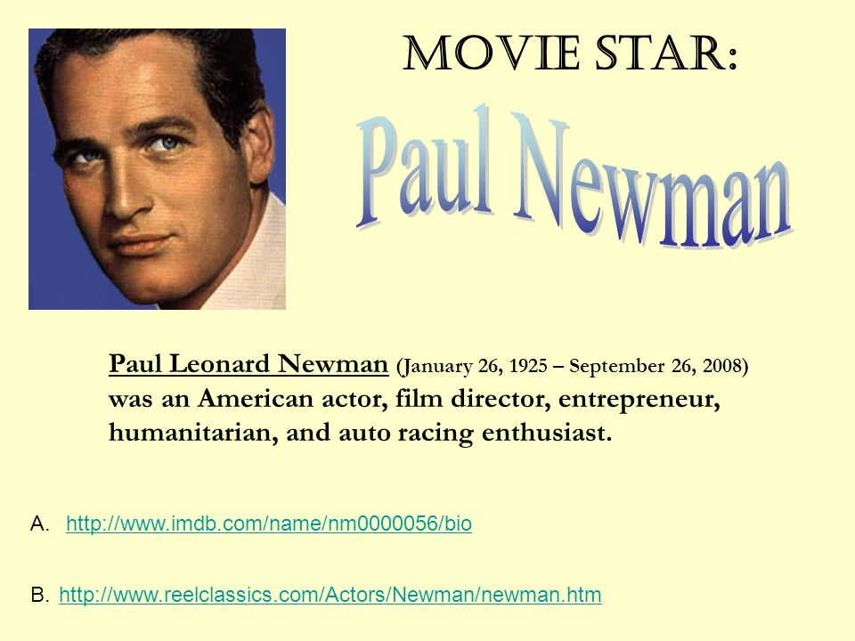 Movie Star: Paul Newman