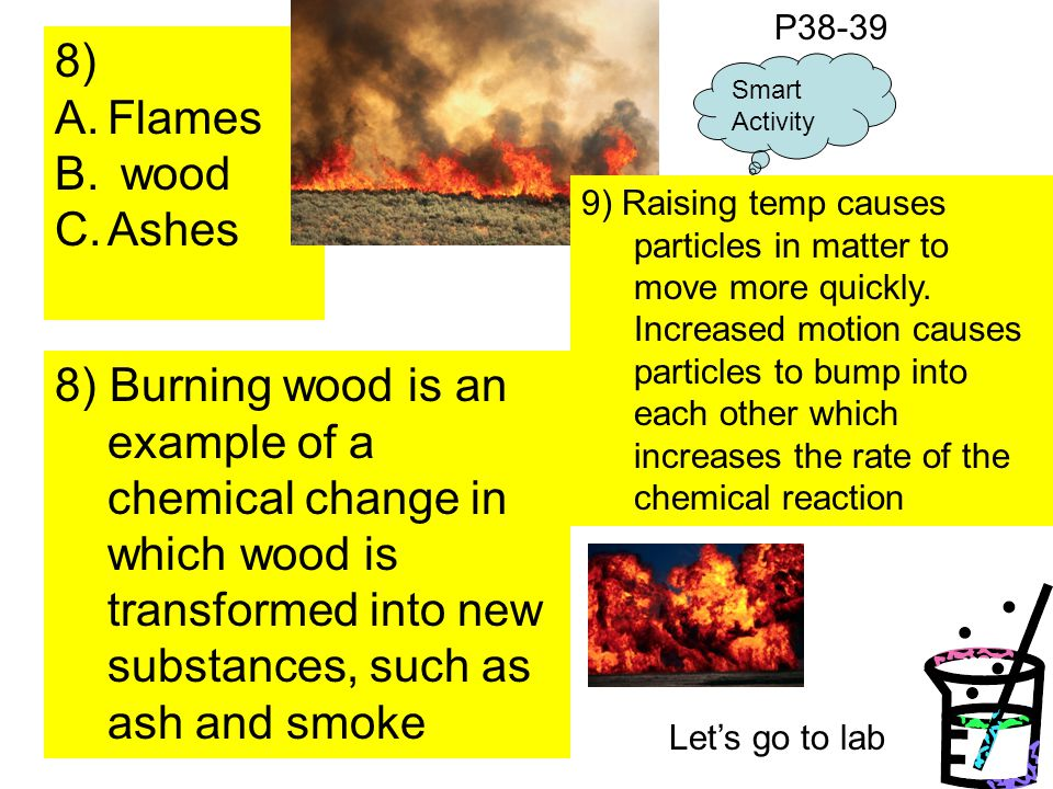 P38-39 8) Flames. wood. Ashes. Smart Activity.