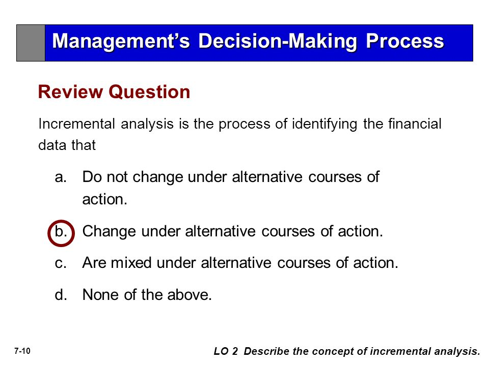 Management's Decision-Making Process