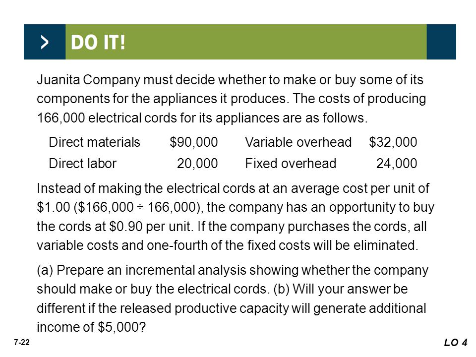 Direct materials $90,000 Variable overhead $32,000