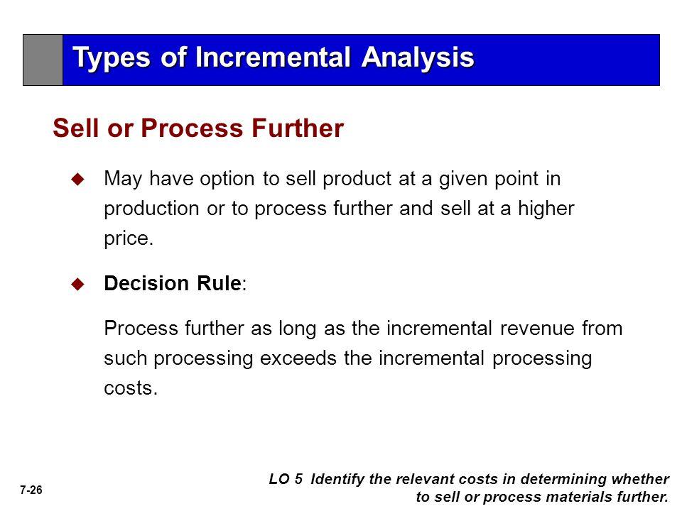 Types of Incremental Analysis