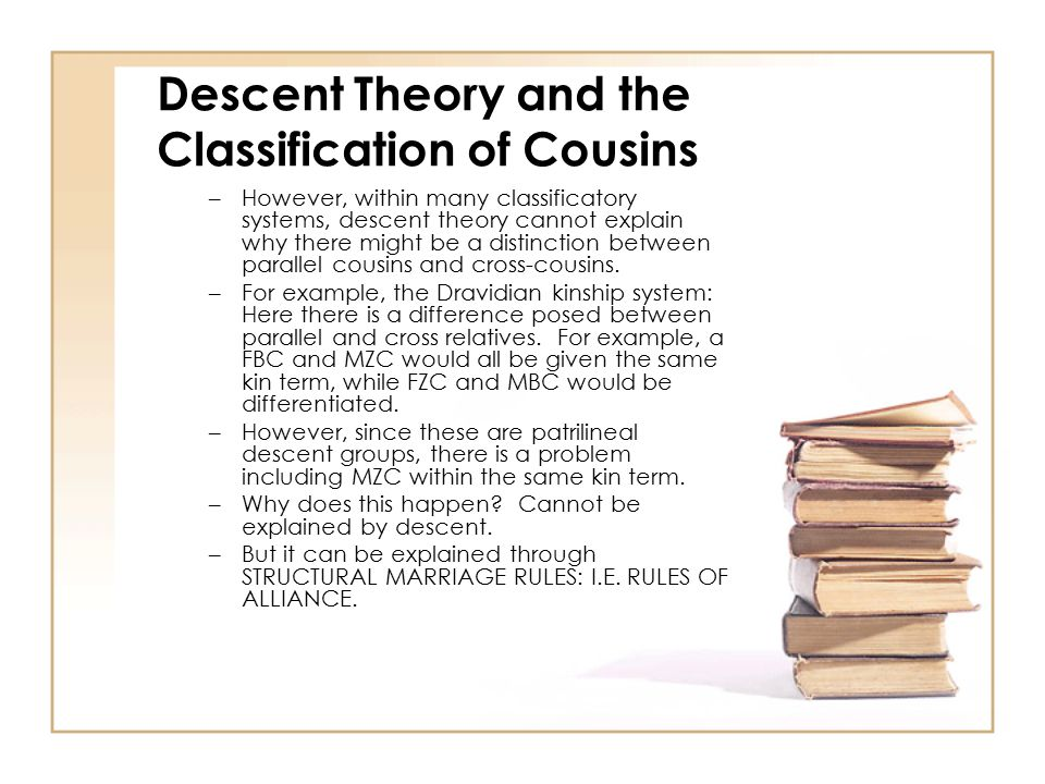 Descent Theory and the Classification of Cousins