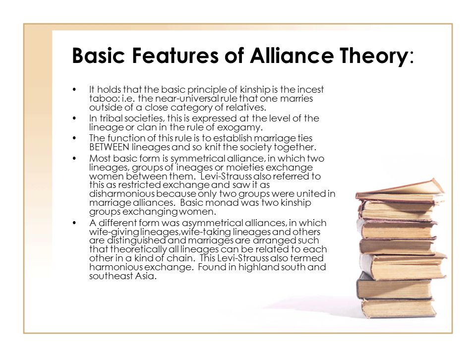 Basic Features of Alliance Theory: