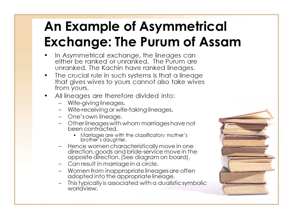 An Example of Asymmetrical Exchange: The Purum of Assam