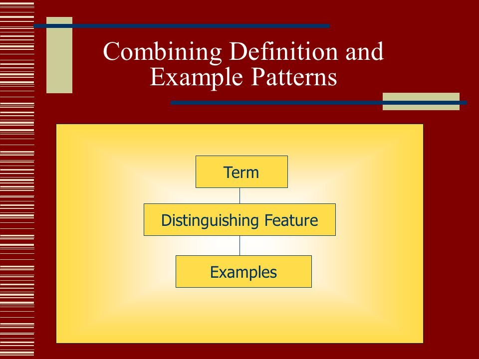 Combining Definition and Example Patterns